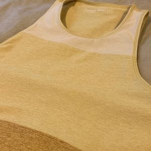 Yellow/Ochre TriTone Slashback Crop NEW